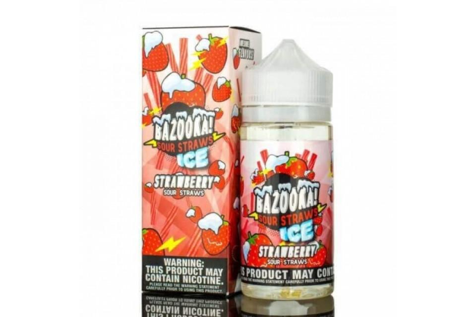 Strawberry ICE Sour Straws 100Ml