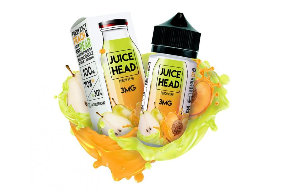 Juice Head Peach Pear 100ml - Tinh Dầu Vape Mỹ