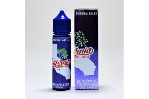 California Grown Grizzly Apple Cool 60ml - Tinh Dầu Vape Mỹ